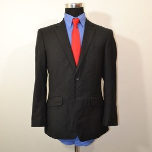 Kenneth Cole 38S Sport Coat Blazer Suit Jacket Bla
